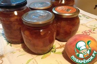 Персиковое варенье с лавандой