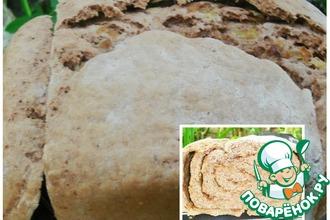 Ржаной луковый хлеб-рулет