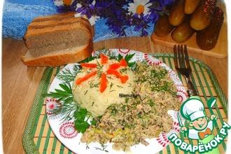 Рис с тушеной капустой