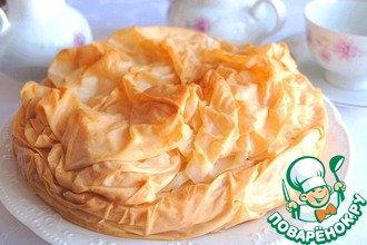 Воздушный капустно-яичный пирог из фило