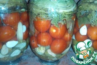 Консервированные помидоры с огурцами