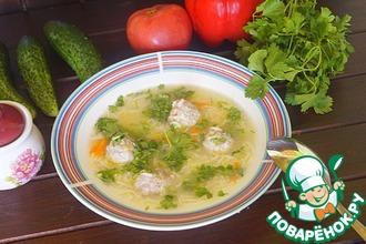 Суп с фрикадельками из гречневых хлопьев
