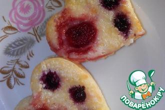 Мини-пшенники на сметане с ягодами