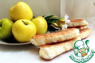 Жареные пирожки с яблочно-грушевым джемом
