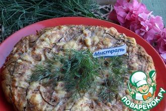 Пирог с лисичками и зеленью