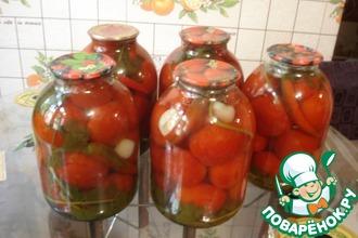 Сладкие маринованные помидоры с сельдереем