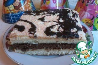"""Бисквитный торт """"Мурчик"""""""