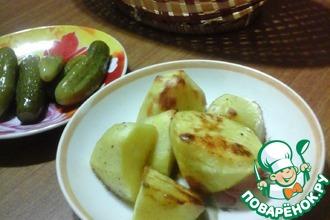 Картофель, запеченный с горчицей и медом