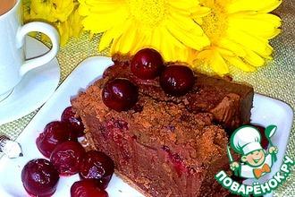 Шоколадное пирожное из печенья