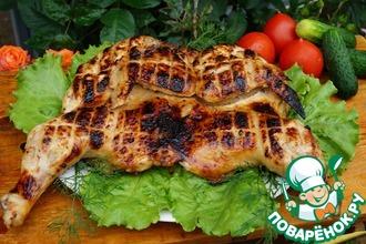 Цыпленок на гриле в маринаде