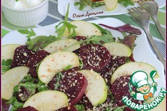 Теплый свекольный салат-гриль