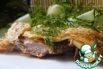 Свинина под хрустящей сырно-картофельной корочкой