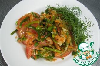 Салат из кабачка и стрелок чеснока