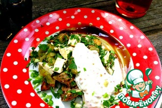 Салат-закуска из овощей гриль