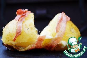 Запеченный картофель с сырной начинкой