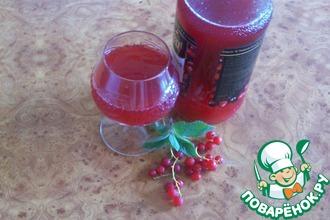 Напиток с красной смородиной