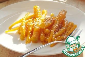 Молодая морковь в сахарно-медовом соусе