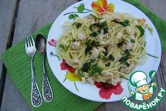 Спагетти с мясом и вином