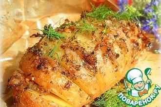 Запеченный картофель с салом на пикник