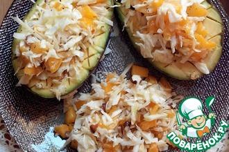 Авокадо гриль с салатом