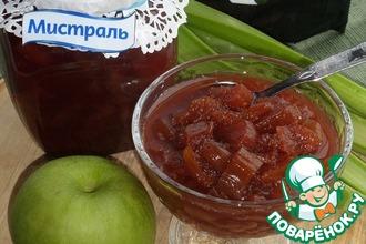 Варенье из ревеня и яблок