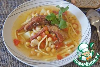 """Густой испанский мясной суп """"Ранчо канарио"""""""