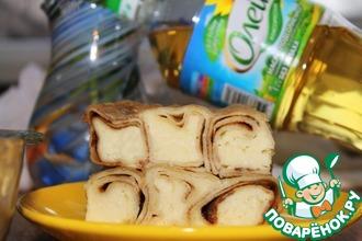 Трубочки творожные, запеченные с сыром