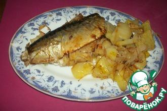 Рыба с квашеной капустой и картофелем
