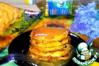 Морковные оладьи под лимонно-медовым соусом