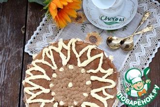Черёмуховый блинный торт с творожным кремом