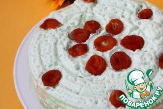 Блинный торт с кремом из кураги