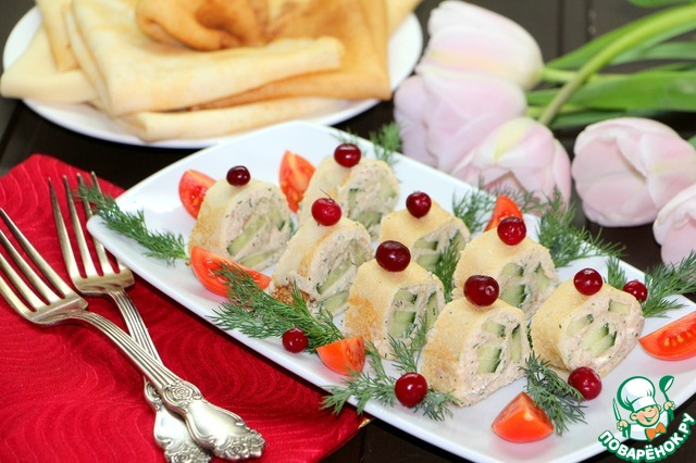 Закуска для праздничного стола на масленичной неделе готова!