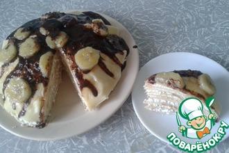 Творожно-блинный торт