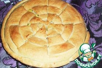 Закусочный пирог из песочного теста