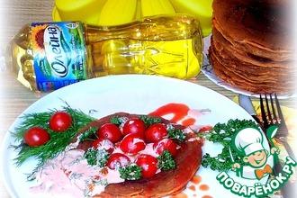 Блины томатные с томатно-сметанным соусом