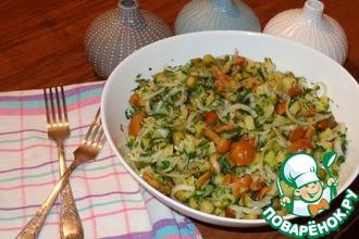 Салат с грибами и маринованным луком