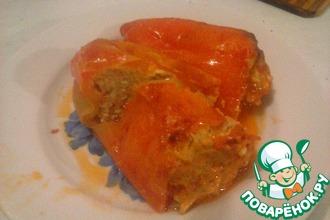 Фаршированный перец с плавленым сыром