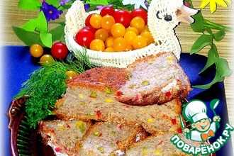 Хлеб с зелёным горошком и курурузой