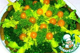 Салат овощной изумрудный
