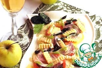 Салат с грейпфрутом и яблоком