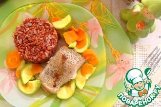 Рыба с овощами за 15 минут