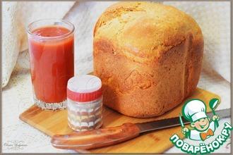 Томатный пшенично-ржаной хлеб с черным перцем