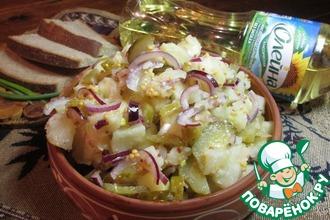 Салат из печеного картофеля