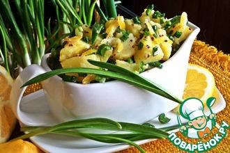 Картофель с лимоном и зеленью
