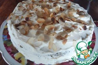 Ангельский торт с маскарпоне и маком