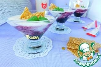 Десерт из ряженки с козинаками