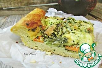 Пшенный пирог с овощами и курицей