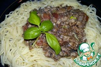 """Спагетти с соусом """"Ткемали"""""""