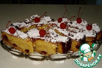 Вишнево-яблочный пирог