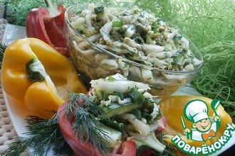 Очень вкусный салат из зеленых овощей